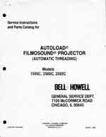 Bell & Howell 1595C, 2585C & 2592C Filmosound 16mm Service and Parts Manual