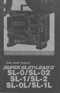 Eiki SL Super Slot Load II 16mm Projector Owners Manual