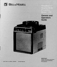 Bell & Howell Ringmaster Sound / Slide Projector Model 796 Owners Manual