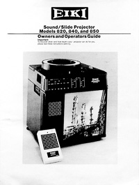 Eiki Ringmaster II Sound / Slide Projector Owners Manual
