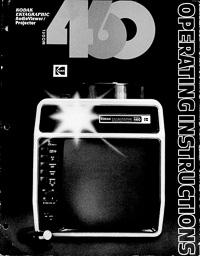 Kodak Ektagraphic AudioViewer Projector Model 460 Owners Manual