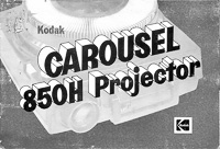 Kodak Carousel 850H Slide Projector Owners Manual