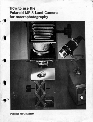 Macrophotography For The Polaroid MP-3 Industrial View Land Camera Manual