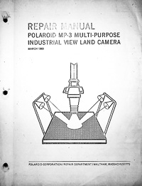 Polaroid MP-3 Repair and Parts Manual Industrial View Land Camera Copy Stand
