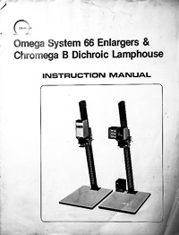 Omega B66 and Chromega B Lamphouse Owners Manual