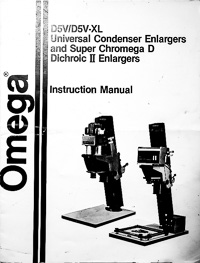 Omega D5V / D5V-XL Owners Manual