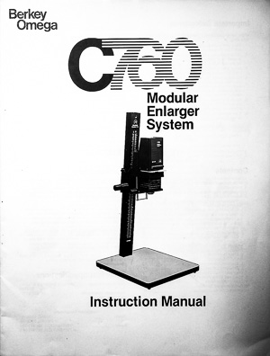Omega C760 Modular Photo Enlarger System Owners Manual