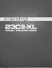 Beseler 23CII-XL Photo Enlarger Owners Manual