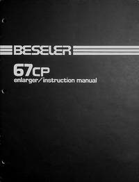 Beseler 67cp Photo Enlarger Owners Manual