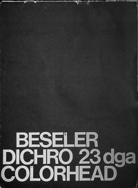 Beseler Dichro 23 dga Colorhead Owners Manual