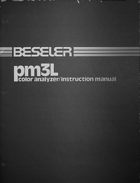 Beseler PM3L Color Analyzer Owners Manual