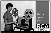 RCA 1600 16mm Sound Movie Projector Owner's Manual