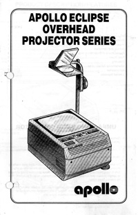 Apollo Eclipse Overhead Projector Owner's Manual