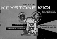 Keystone K-101 8mm Automatic Movie Projector Instruction Manual