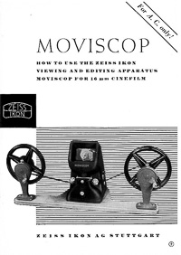 Zeiss Ikon Moviscop 16mm Movie Film Editor User Manual