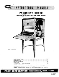 Pako Pakonomy Photo Paper Dryer Instruction Manual