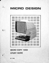 Micro Design Micro Copy 1000 Service & Parts Manual Microfiche Reader / Printer