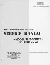 Eiki SL II Series 16mm Sound Projector Service and Parts Manual