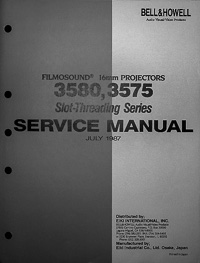 Bell & Howell / Eiki 3580, 3575 Service and Parts Manual