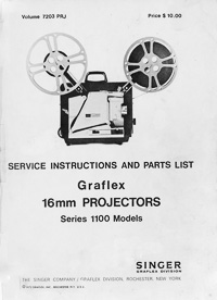 Graflex 1100 16mm Projector Service and Parts Manual
