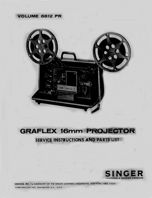 Graflex 700, 800, 900 Series 16mm Service and Parts Manual
