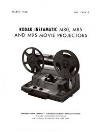 Kodak 8mm Instamatic M80, M85 and M95 Projector Service Manual