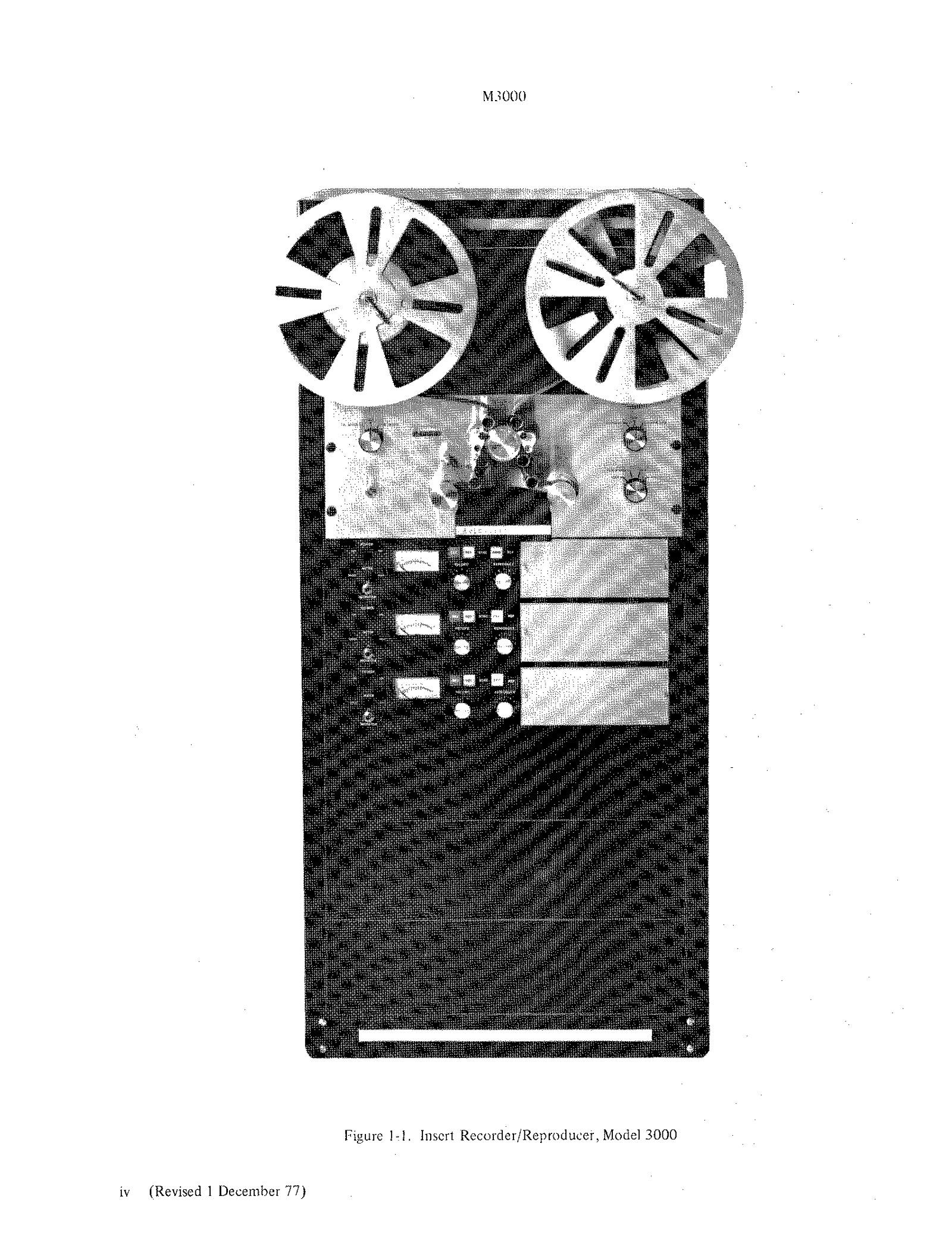 moviola model 3000 insert recorder reproducer technical manual ebay Manual Template Manual Handling Injuries