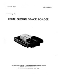 Kodak Carousel Stack Loader Service and Parts Manual