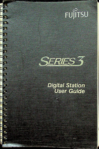 Fujitsu Series 3 Digital Station Telephone User Guide - Original Factory Manual