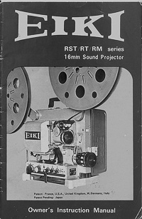 Eiki 16MM RST / RT / RM Projector Owners Manual
