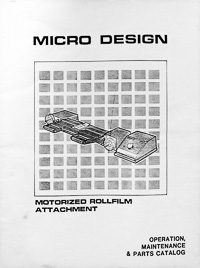 Micro Design Motorized Rollfilm Attachment Owners Manual
