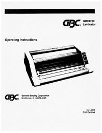 GBC 4250 Laminator Owners Manual