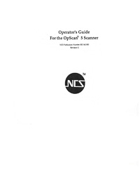 NCS Opscan 5 OMR Scanner Owners Manual
