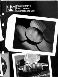 Polaroid MP-4 Land Camera Copy Stand Owners Manual