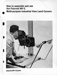 Polaroid MP-3 Industrial View Land Camera Copy Stand Owners Manual