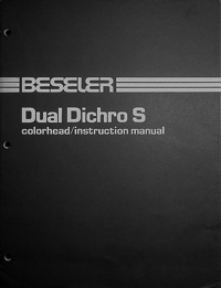 Beseler Dual Dichro S Colorhead Owners Manual