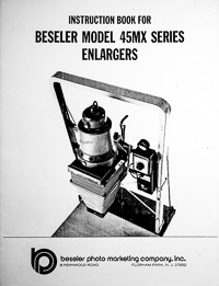 Beseler 45MX Series Photo Enlarger Owners Manual