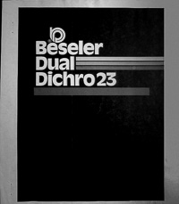 Beseler Dual Dichro 23 Colorhead Owners Manual