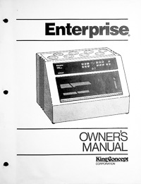 King Concept Enterprise Photographic Processor Owners Manual