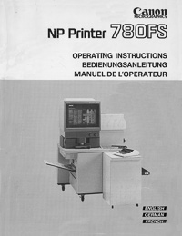 Canon NP Printer 780FS Microfilm Reader / Printer Owners Manual