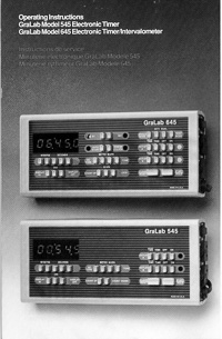 GraLab Model 545, 645 Electronic Timer Operating Instructions