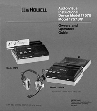 Bell & Howell Model 1757B Audio-Visual Instructional Device Owners Manual