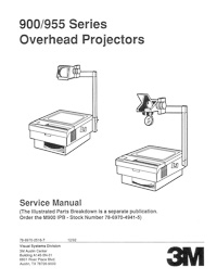 3M 900 / 955 Series Overhead Projector Service Manual