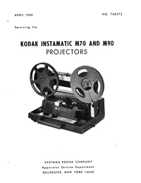 Kodak 8mm Instamatic M70 and M90 Service and Parts Manual