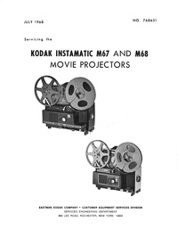 Kodak 8mm Instamatic M67 and M68 Projector Service Manual