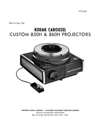 Kodak Carousel Slide Projector Custom 850H, 850H-K and 860H Service and Parts Manual
