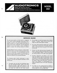 Audiotronics Record Player 302 Service Guide